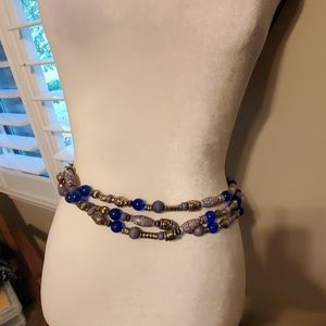 Beaded chain belt